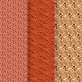 Nahtlose musterschablone der abstrakten abgerundeten linien