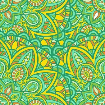 Nahtlose mustertapete mandala-vektor-design zum drucken. stammes-ornament.