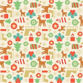 Nahtlose mustertapete von weihnachten