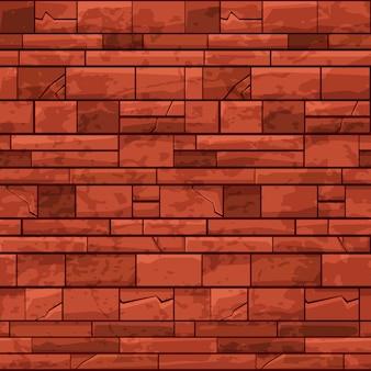 Nahtlose musterziegelsteinmauer für ui-spiel. illustration eines sich wiederholenden schmutzigen rissigen hintergrundes für spielgrafikdesign.
