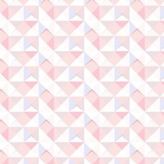 Nahtlose rosa geometrisches dreieck gemusterte hintergrund-designressource