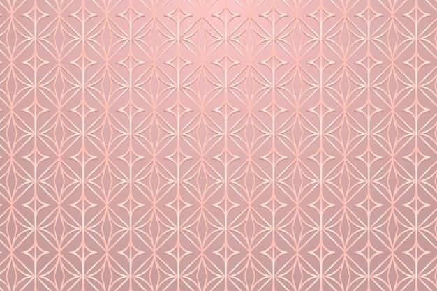 Nahtlose rosa runde geometrische gemusterte hintergrunddesignressource background