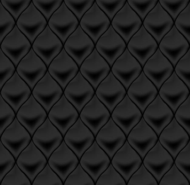 Nahtlose schwarze lederpolsterung