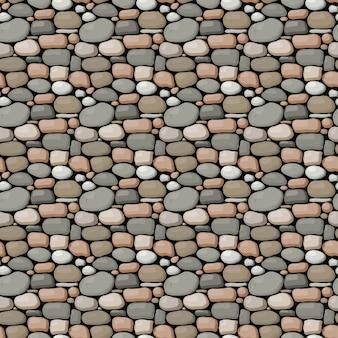 Nahtlose steinmauer muster