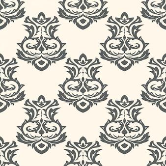 Nahtlose tapeten im barockstil. kann für hintergrund- und seitenfüllungs-webdesign verwendet werden