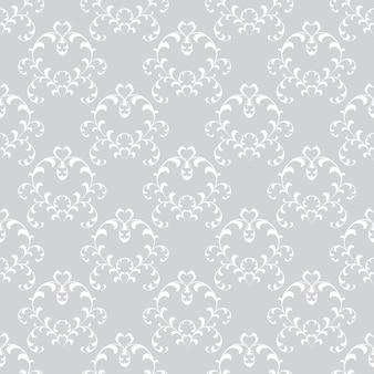 Nahtlose tapeten mit blumenmuster im stil des barock. kann für hintergrund- und seitenfüllungs-webdesign verwendet werden.