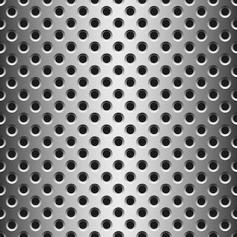 Nahtlose textur aus metall mit löchern