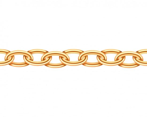 Nahtlose textur der goldenen kette.