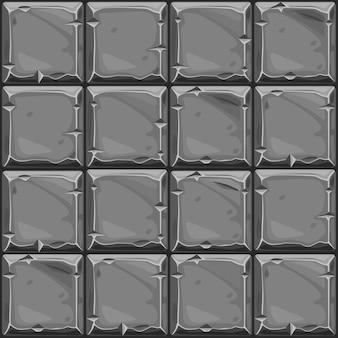 Nahtlose textur des grauen quadratischen steins, hintergrundsteinwandfliesen.