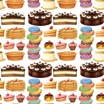 Nahtlose verschiedene art von desserts