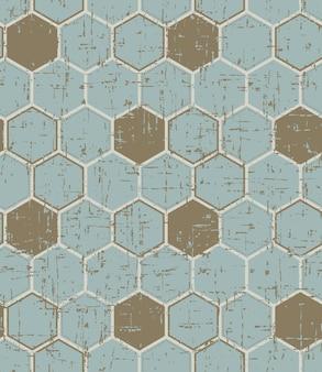 Nahtlose vintage abgenutzte polygon gemalte holzstruktur
