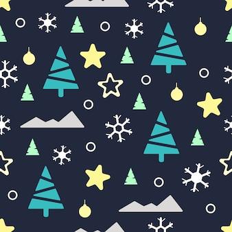 Nahtlose weihnachten muster winter