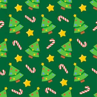 Nahtlose weihnachtsmuster-feiertagsillustration