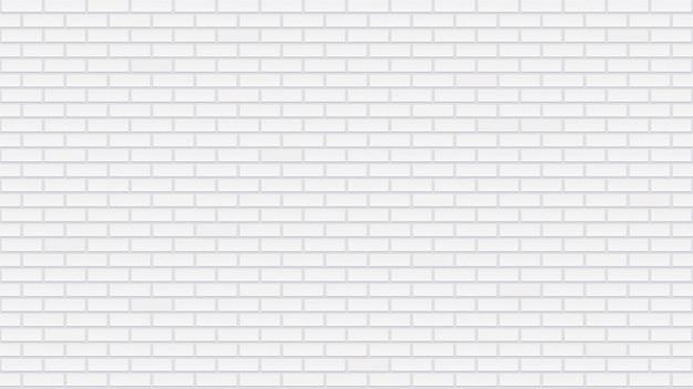 Nahtlose weiße backsteinmauer. detaillierte textur. innenschablone mit weiß getünchten ziegeln. hellgraue wiederholte gebäudefläche.