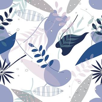 Nahtloser abstrakter blattoberflächen-musterhintergrund