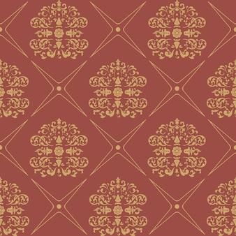 Nahtloser barockstil des weinlesemusters. blumentapete textil,