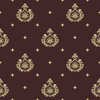 Nahtloser barockstil des weinlesemusters mit abstraktem element. hintergrunddekor und