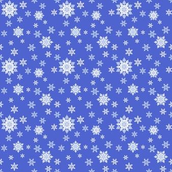 Nahtloser blauer hintergrund mit weißen schneeflocken