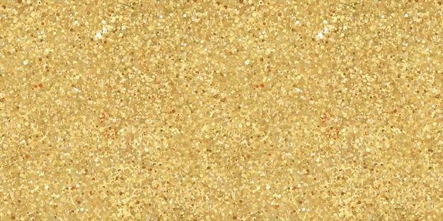Nahtloser festlicher goldener glitzer-konfetti-hintergrund