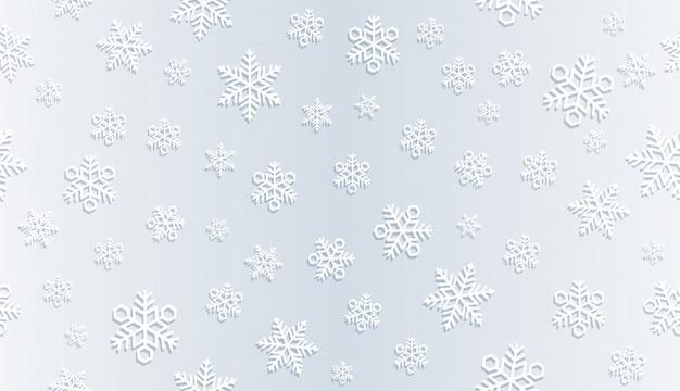 Nahtloser festlicher schneehintergrund.