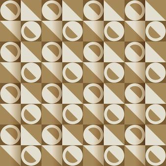 Nahtloser geometrischer abstrakter musterhintergrund in der quadratischen form.