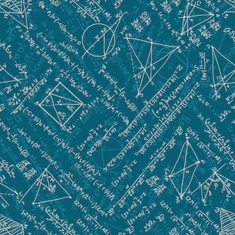 Nahtloser hintergrund der mathematik.