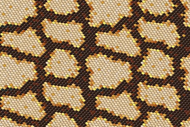 Nahtloser hintergrund der pythonschlangehaut auf vektorgrafikkunst.