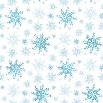Nahtloser hintergrund der schneeflocke. muster des neuen jahres, vektorhintergrund.