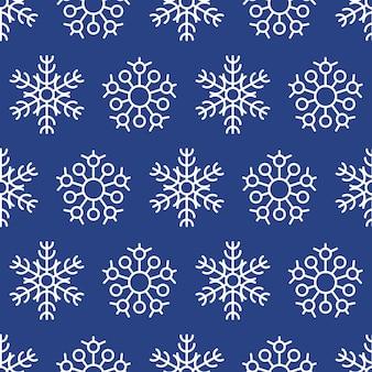 Nahtloser hintergrund der schneeflocken. weihnachts- und neujahrsdekorationselemente. vektor-illustration.
