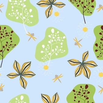 Nahtloser hintergrund des abstrakten frühlingsblumenoberflächenmusters