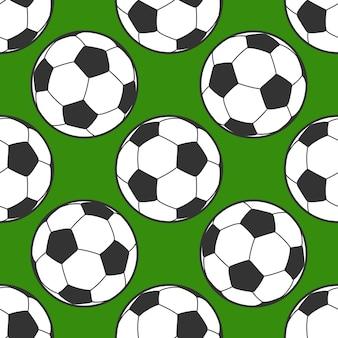 Nahtloser hintergrund des fußballs