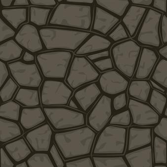Nahtloser hintergrund des grauen stein der karikatur, texturmuster