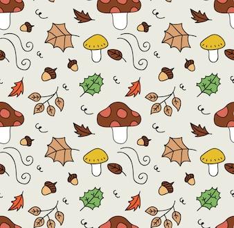 Nahtloser Hintergrund des Herbstes