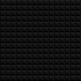 Nahtloser hintergrund des schwarzen quadrats