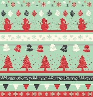 Nahtloser hintergrund des weinlese-weihnachtsfeiertags