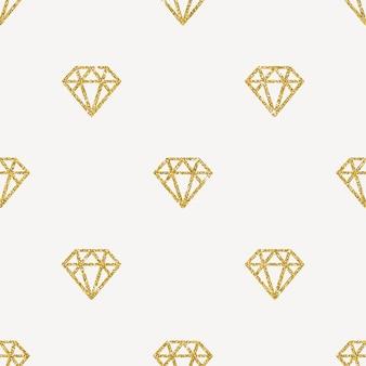 Nahtloser hintergrund - glitzergolddiamanten.