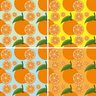 Nahtloser hintergrund mit frischen orangen