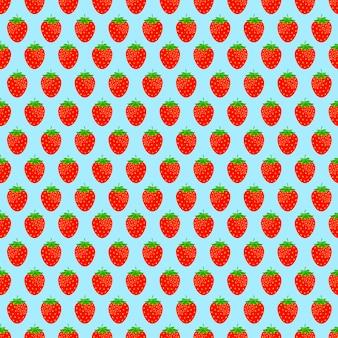 Nahtloser hintergrund mit roten erdbeeren