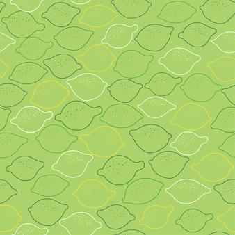 Nahtloser hintergrund mit zitronen auf grün.