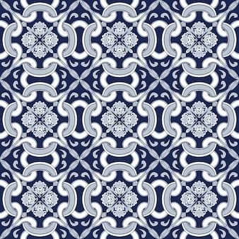 Nahtloser hintergrund, weinlesekreuzrundkurven-kaleidoskopmuster.