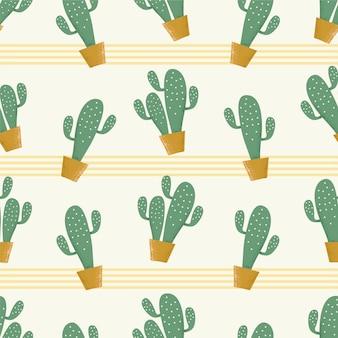 Nahtloser kaktushintergrund