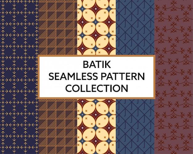 Nahtloser muster-sammlungsvektor des batikgewebes