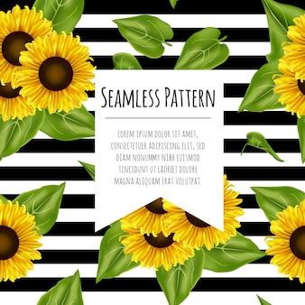 Nahtloser muster-sonnenblumen hintergrund