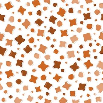 Nahtloser musterhintergrund der abstrakten braunen organischen form