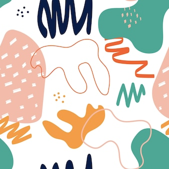 Nahtloser musterhintergrund der abstrakten einfachen form. vektorillustration eps10