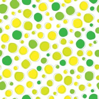 Nahtloser musterhintergrund der abstrakten grünen punkte organischer form