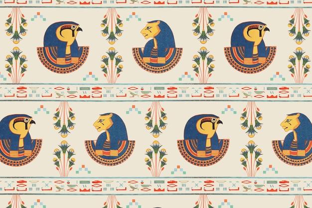 Nahtloser musterhintergrund der ägyptischen tefnut