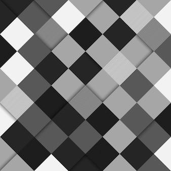 Nahtloser musterhintergrund des abstrakten grauen rechtecks. vektor-illustration. abstrakter hintergrund.