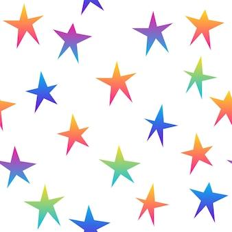 Nahtloser musterhintergrund des abstrakten regenbogens. moderne futuristische illustration für design-geburtstagskarte, partyeinladung, tapete, urlaubsverpackungspapier, taschendruck, t-shirt, werkstattwerbung usw