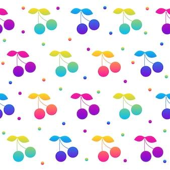 Nahtloser musterhintergrund des abstrakten regenbogens. moderne futuristische illustration für designkarte, partyeinladung, tapete, weihnachtspapier, stoff, taschendruck, t-shirt, werkstattwerbung usw